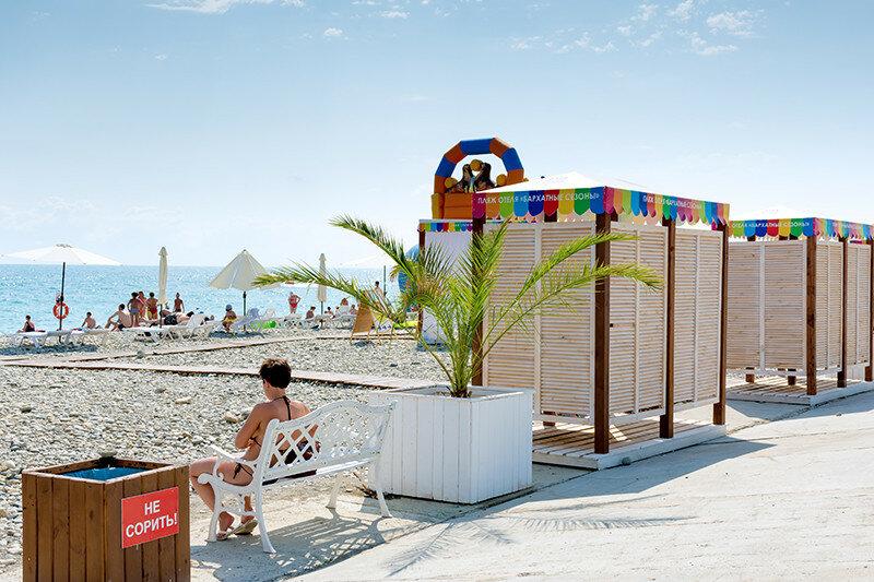 Русская кабинки на пляже фото 380-232