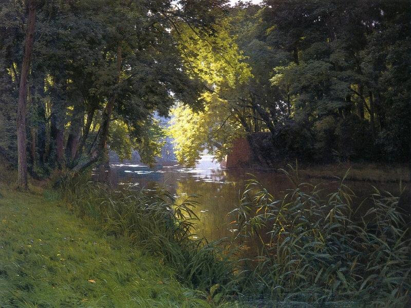Над речкой шепталась осока, Французский художник Анри Бива, Henri Biva