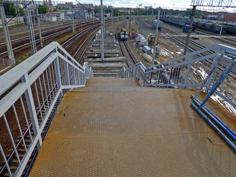 Станция Солнечная. Переход. Стройка