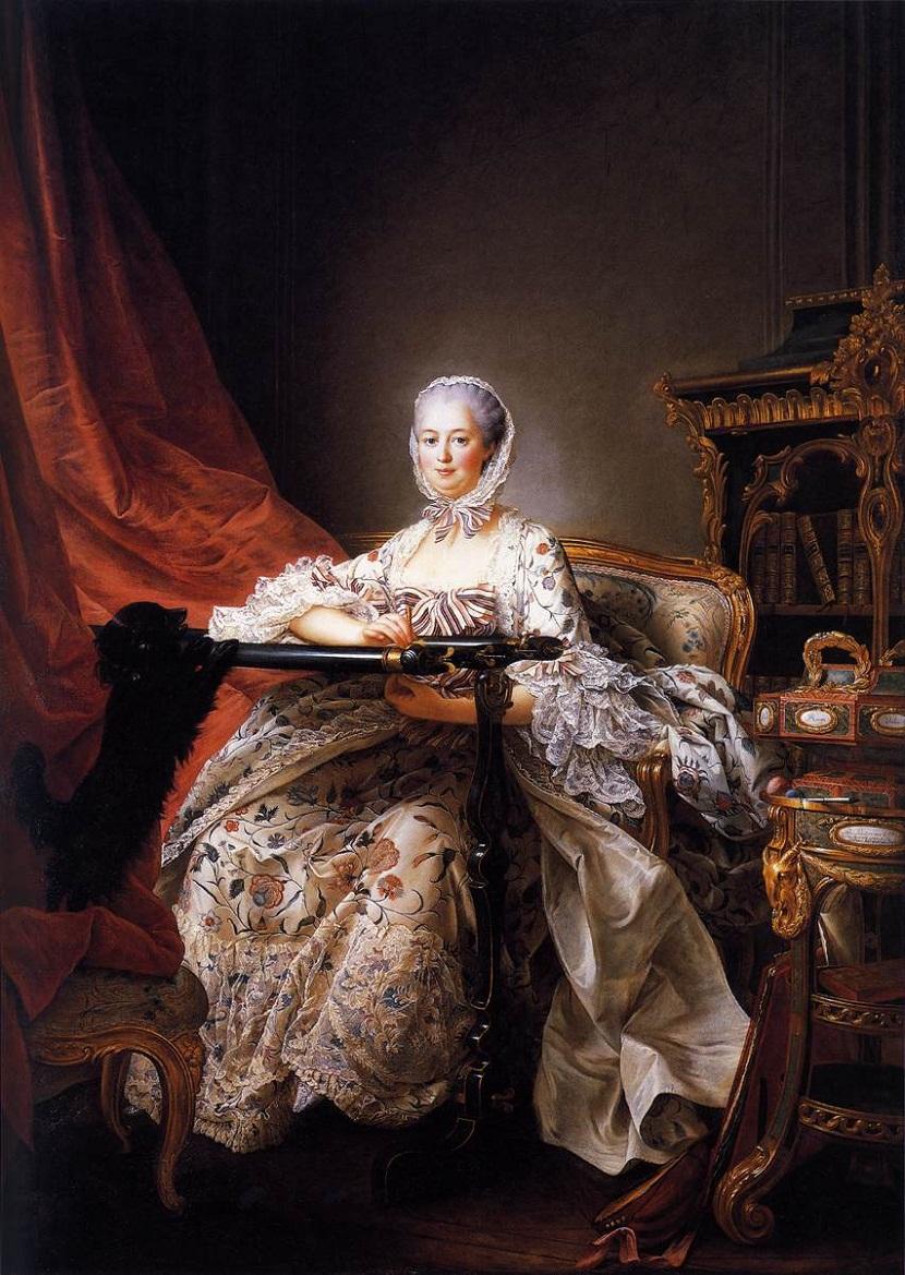François-Hubert Drouais (1727–1775) Мадам Помпадур за вышивкой. Один из последних прижизненных портретов