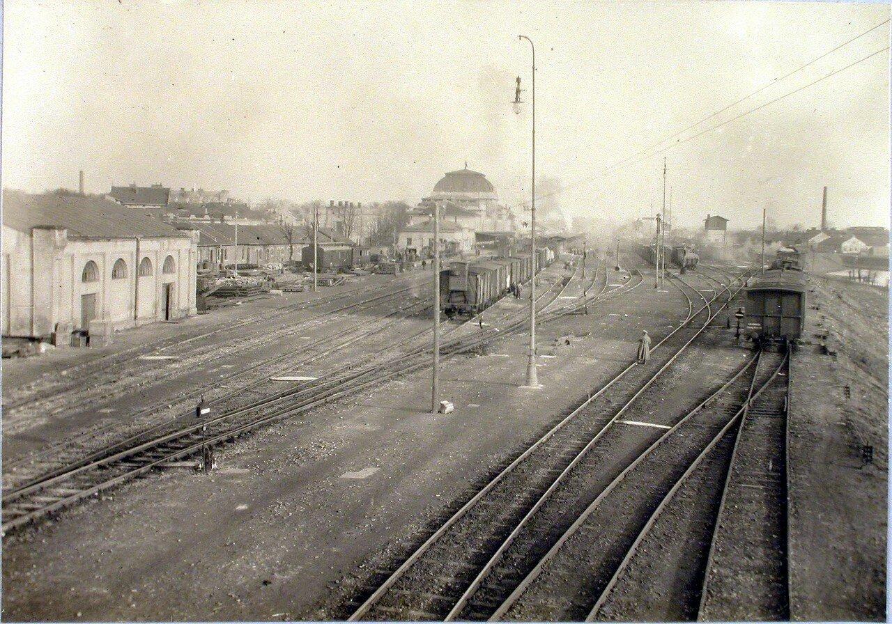 75. Общий вид строений и железнодорожных путей на станции. Галиция, ст. Тарнов