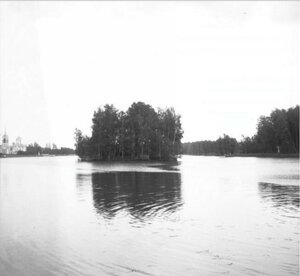 1904. Остров на Кусковском пруду в Кусково