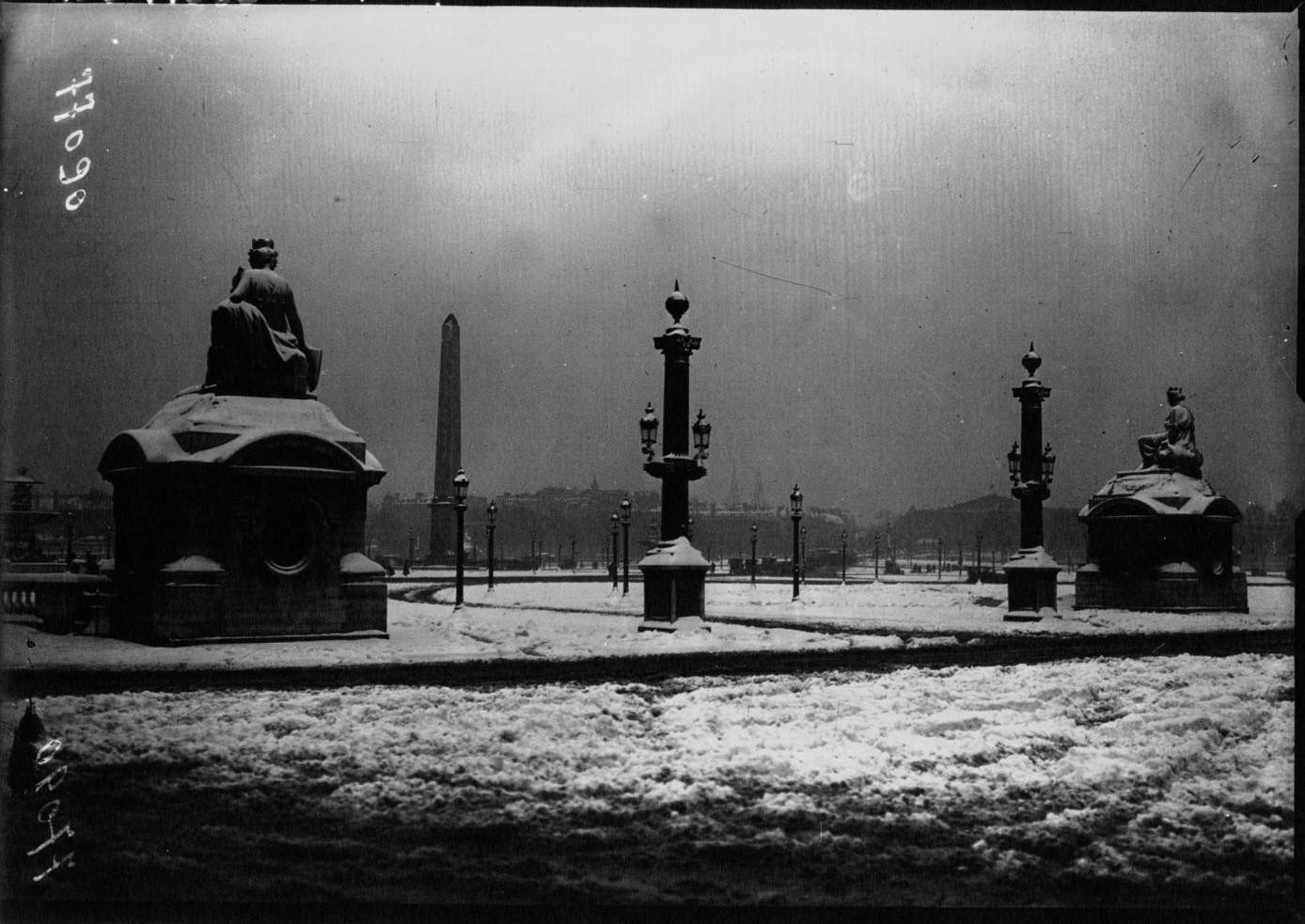 1919. Площадь Согласия под снегом