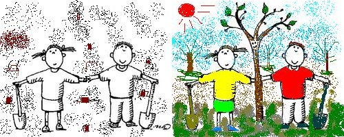 14 мая Всероссийский день посадки леса. Рисунок. Сажаем деревья