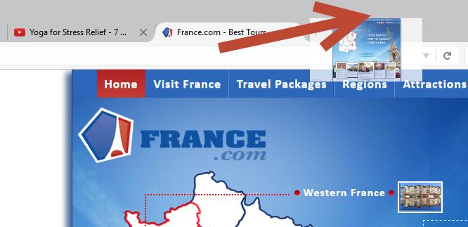 Как отправить в OneTab одну вкладку в Firefox