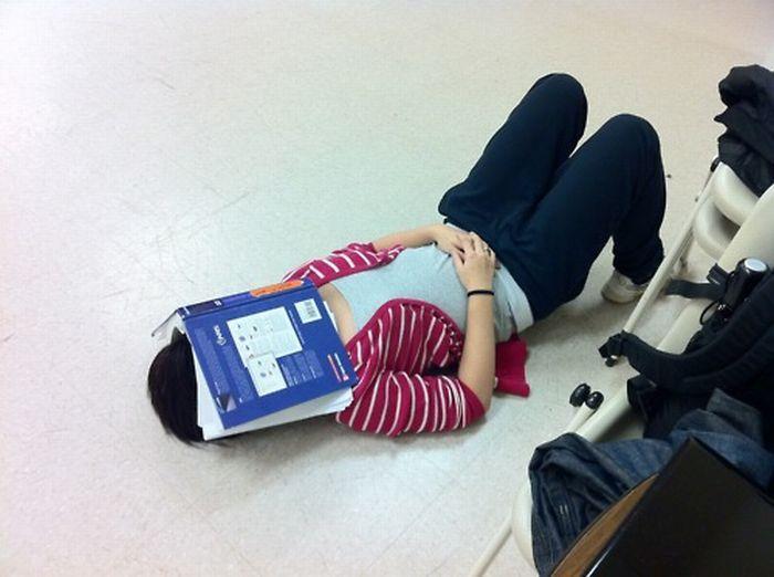 Спящие китайские студенты
