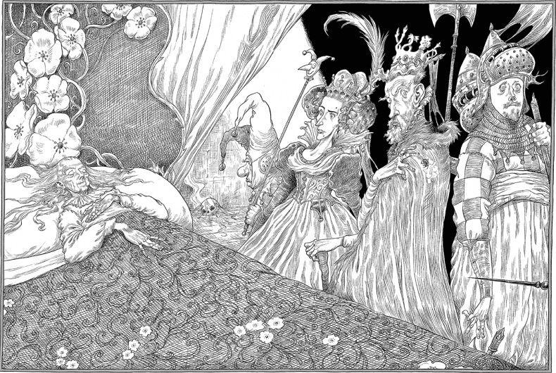 «–Сдаетсямне,– молвила королева,– никакой свадьбы завтра небудет.   Онапослала закарт