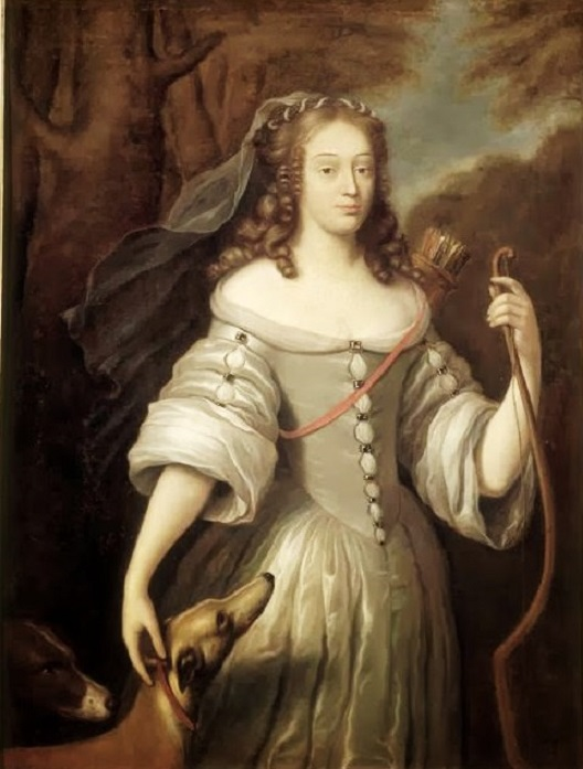 +1667 Claude Lefèbvre (French painter, 1633–1675) Louise de La Vallière as Diana 1667..jpg