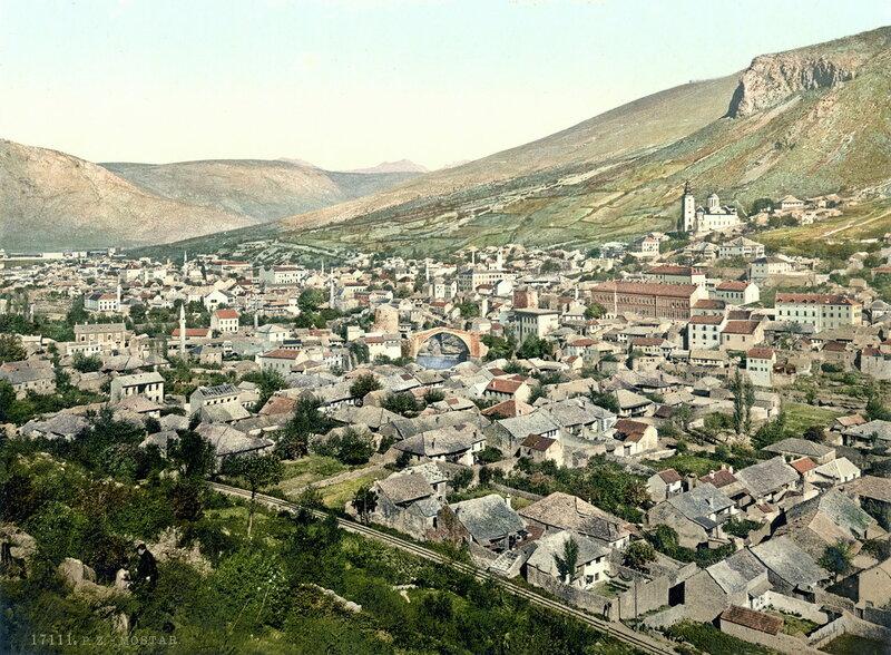 общий вид на Мостар, конец XIX века