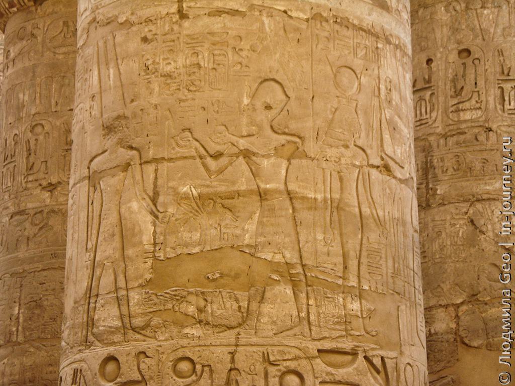 храм Карнак тайны рисунков на стенах и колоннах