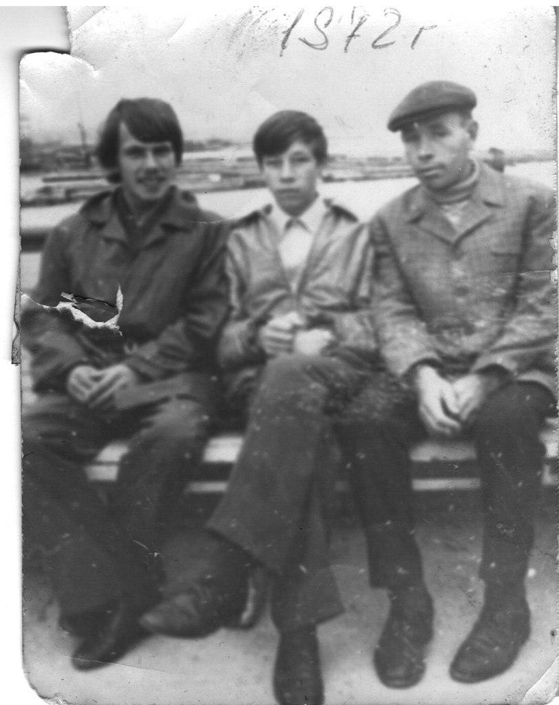 Александр Антипов, Анатолий Попов и Алексей Тугарин. Сентябрь, 1972