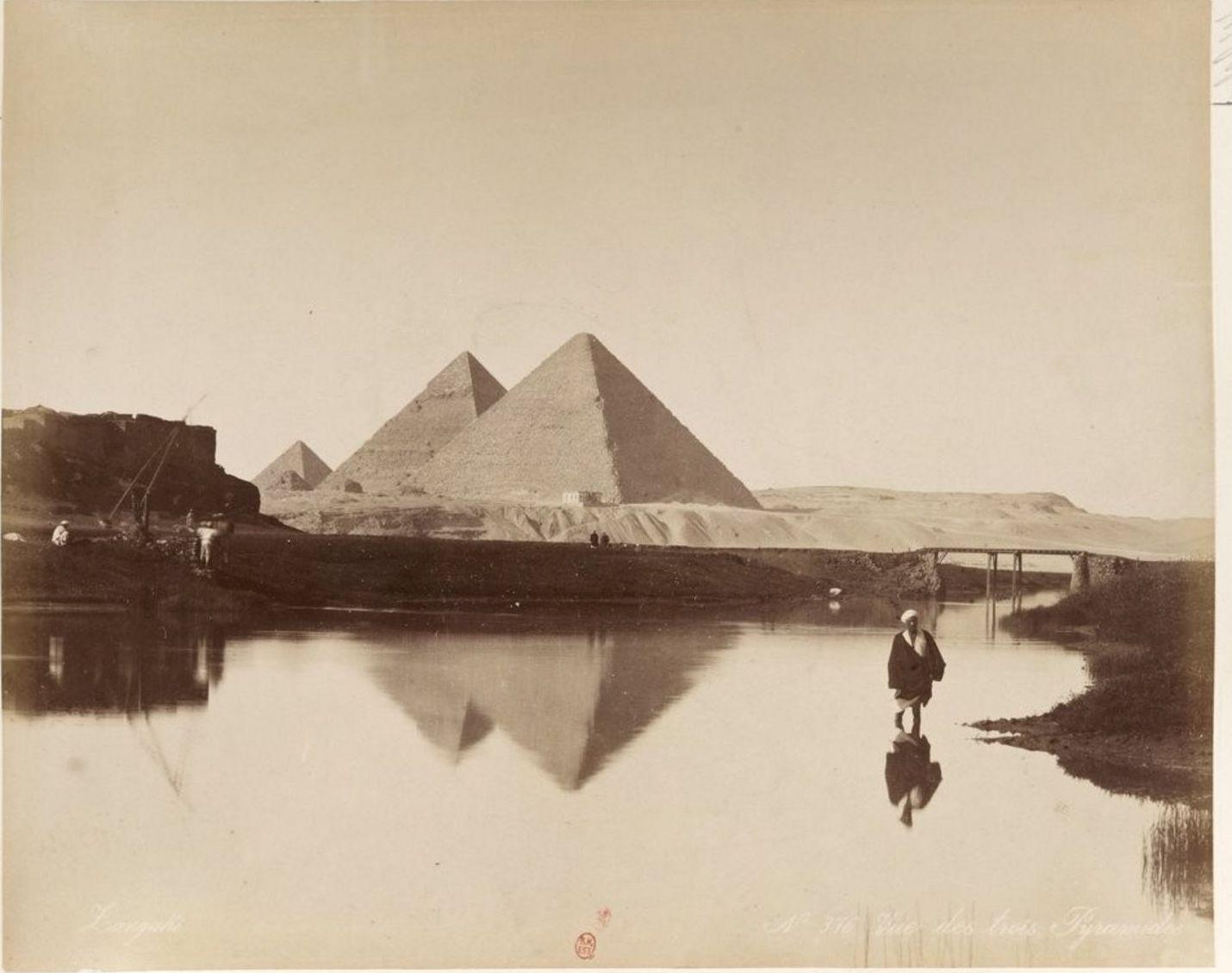 Гиза. Пирамиды. 1885