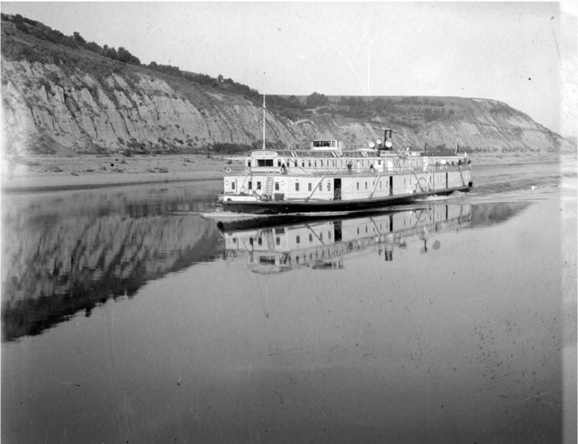 1890-1900. Пассажирский пароход. Общий вид.Нижний Новгород