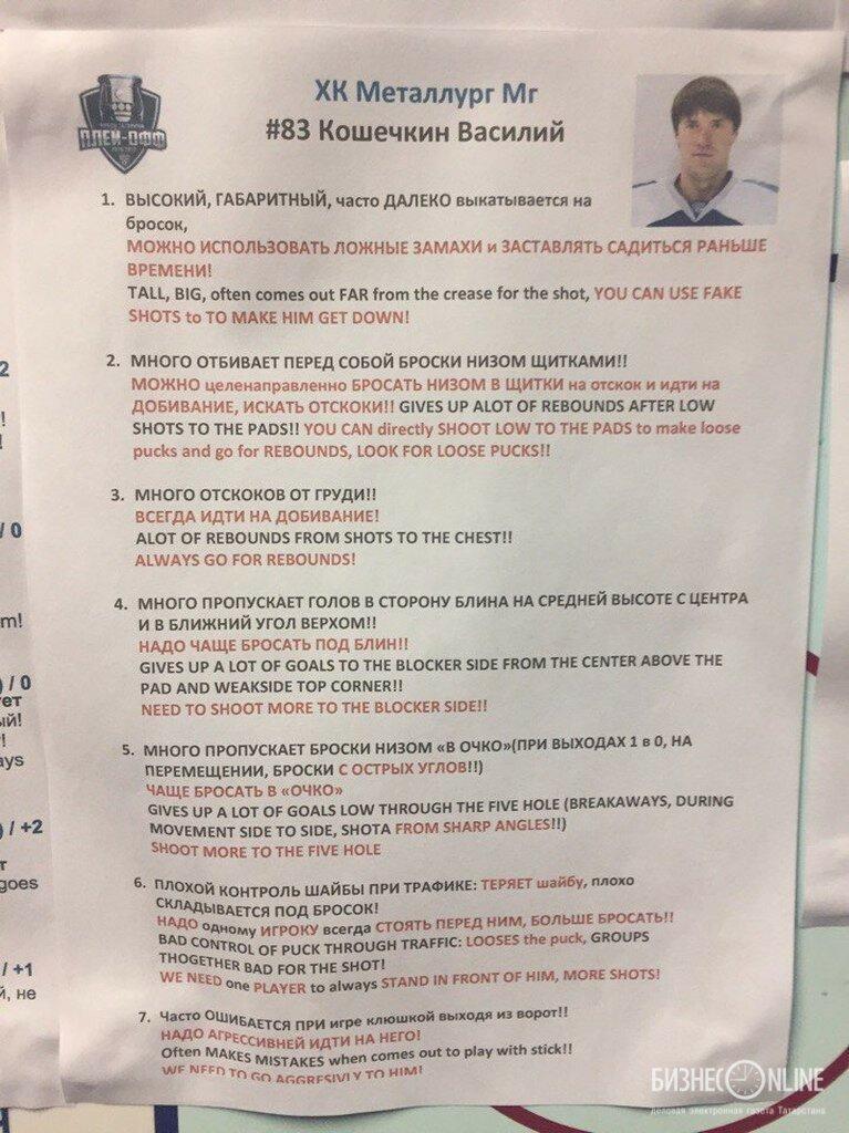1 Разбор игроков Металлурга из раздевалки СКА 16.04.2017
