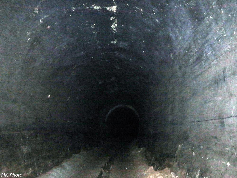Галерея переходит в тоннель