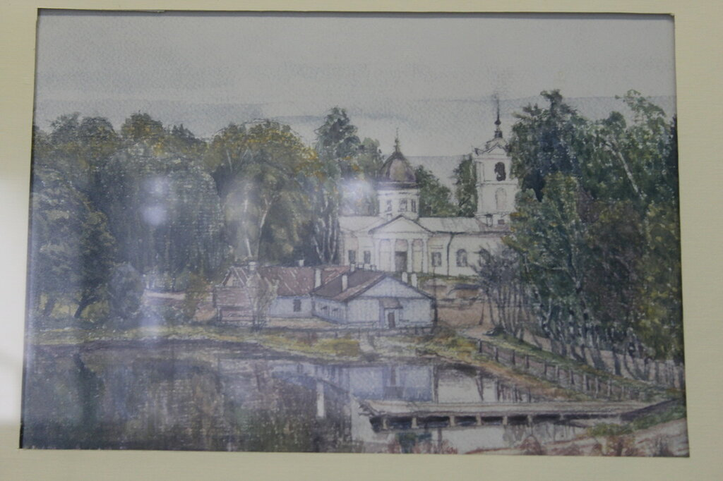 Акварель. Храм Петра и Павла в Колтушах. 1930-е