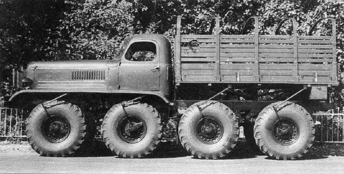 Экспериментальный грузовик высокой проходимости ЗИС-Э134. КрАЗ с турбиной В 1970-е годы на кременчуг