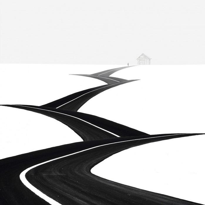 2. Дорога уходящая вдаль