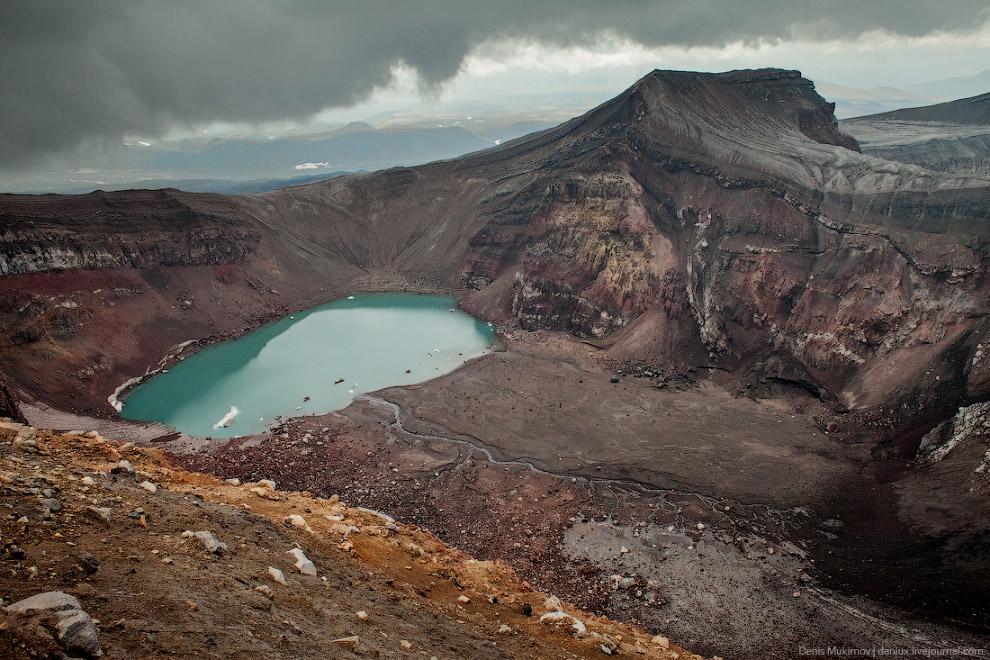 16. Шивелуч — один из самых активных вулканов Камчатки.