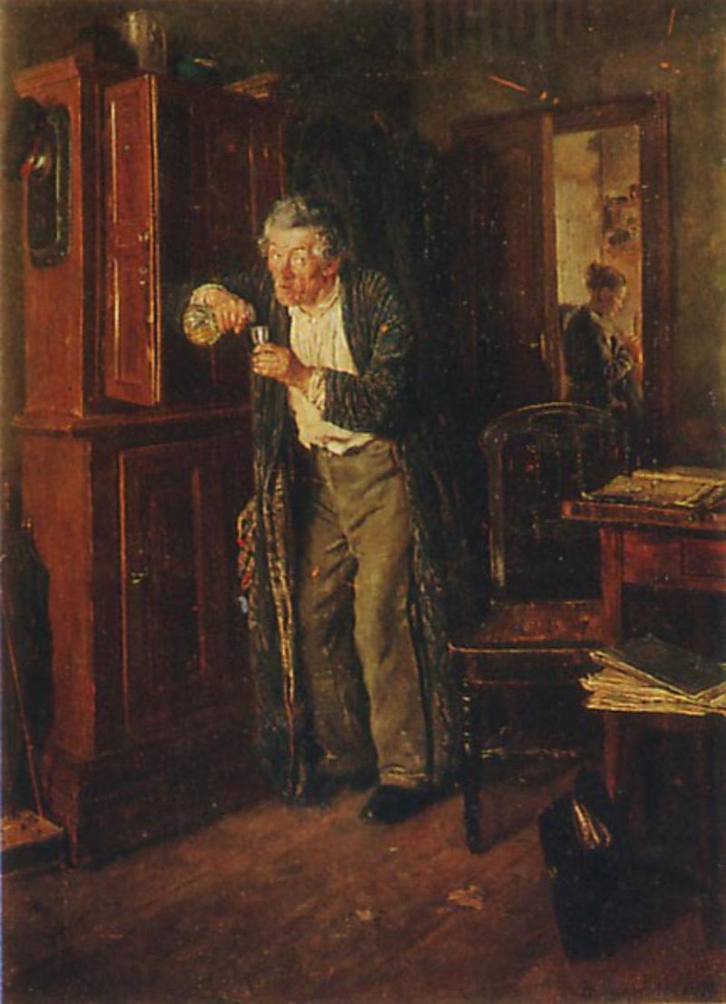 Василий Максимов — «По примеру старших» (1864 год) Дети тоже старались не отставать от взрослых и бр