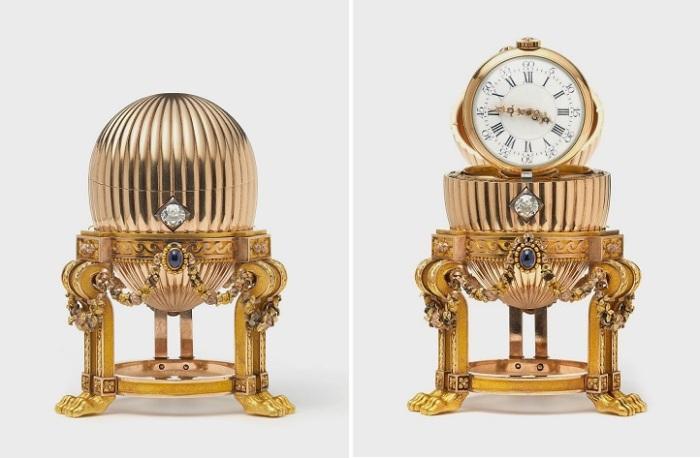 Яйцо Фаберже с часовым механизмом. Предприниматель купил изделие за 14 тысяч долларов и намеревался