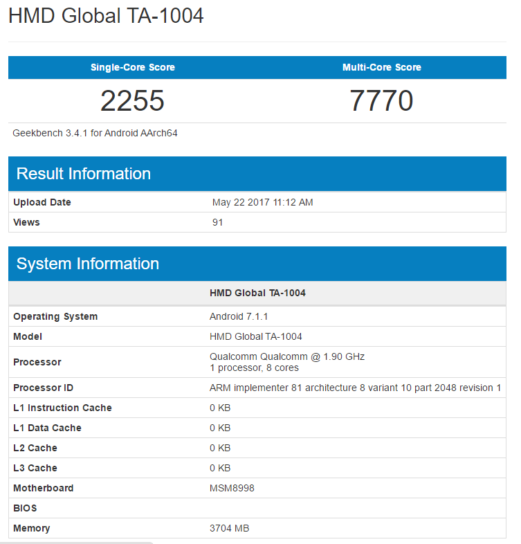 OnePlus 5 обогнал Galaxy S8 Plus поитогам исследования вGeekbench