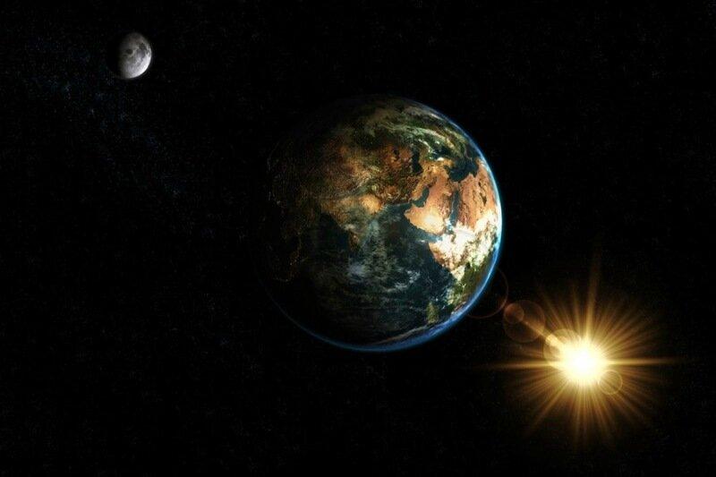 Проследи взаимосвязь между Солнцем, Землей и Луной!