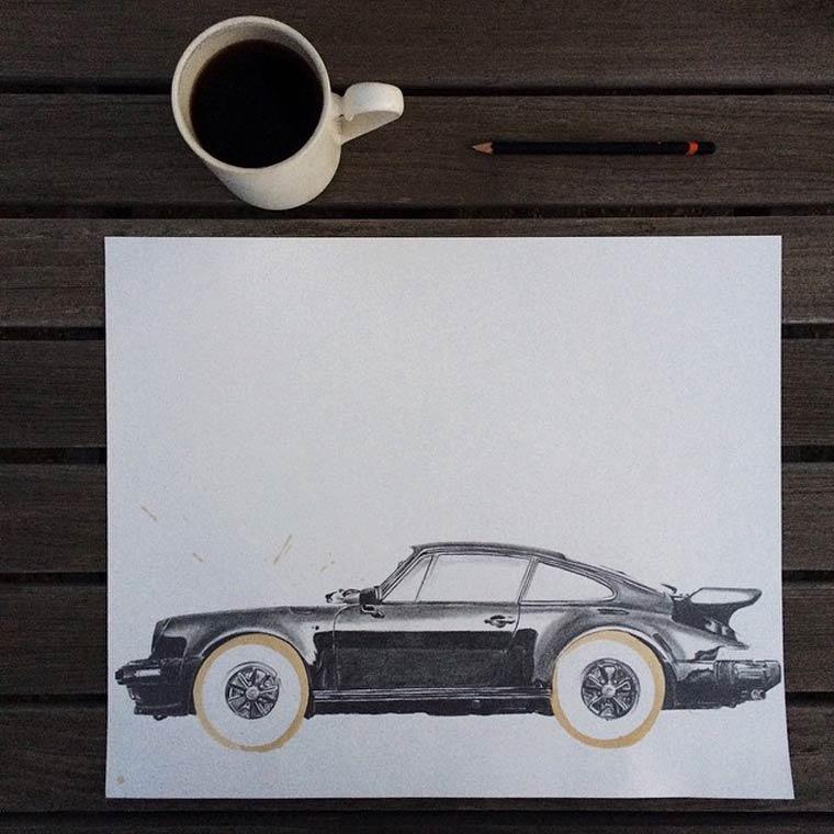 Coffee Stain - Illustrations et taches de cafe