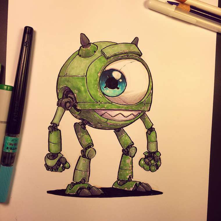 Pop Robots - When Jake Parker transforms pop culture into robots