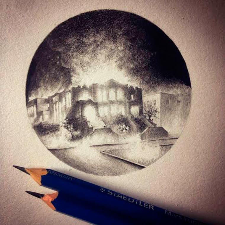 Micro Barroque - The awesome miniature illustrations of Mateo Pizarro