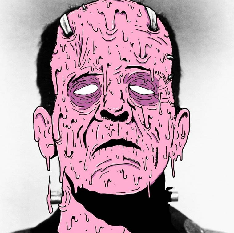 31 Days of Grime - An illustrator defaces the iconic characters of pop culture