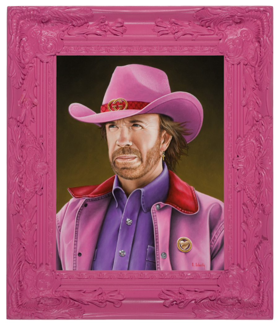 Pink Imaginative Portraits of Famous People and Characters