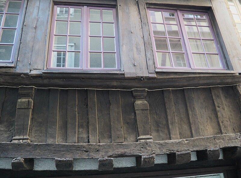 Франция, Динан - фахверковые дома (France, Dinan - half-timbered houses)