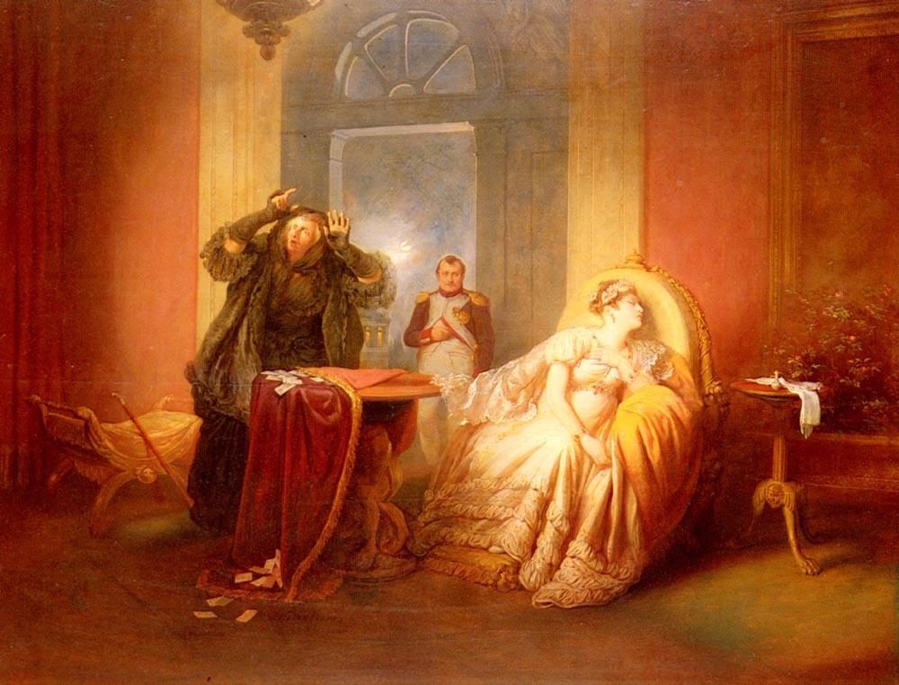 Josef Danhause (1805-1845) - Napoleon Et Josephine Avec La Cartomancienne..jpg