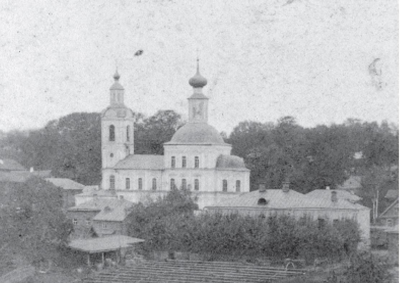 Воскресенская церковь. Вид с юга. Буякович Н.В. 1891-1892