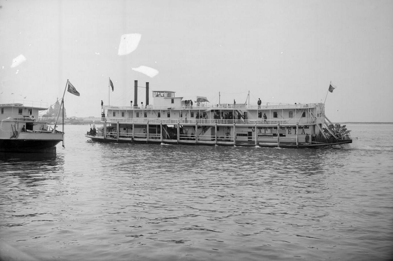 1903. Заднеколесный пароход «Магдалена». Нижний Новгород