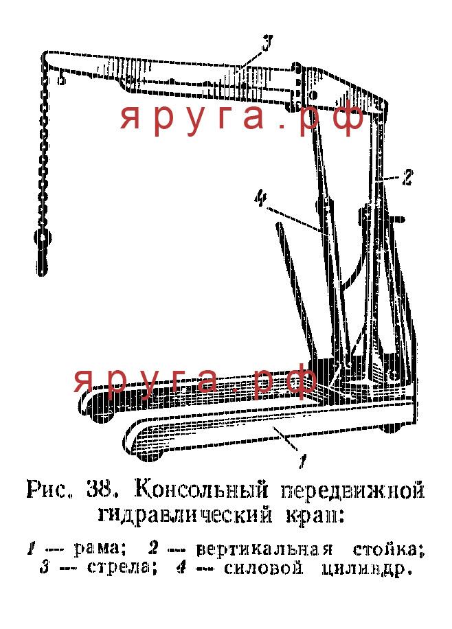 Консольный передвижной гидравлический кран