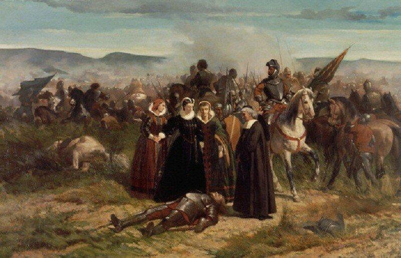 <Mary Stuart at the Field of Crookstone> by Giovanni Fattori