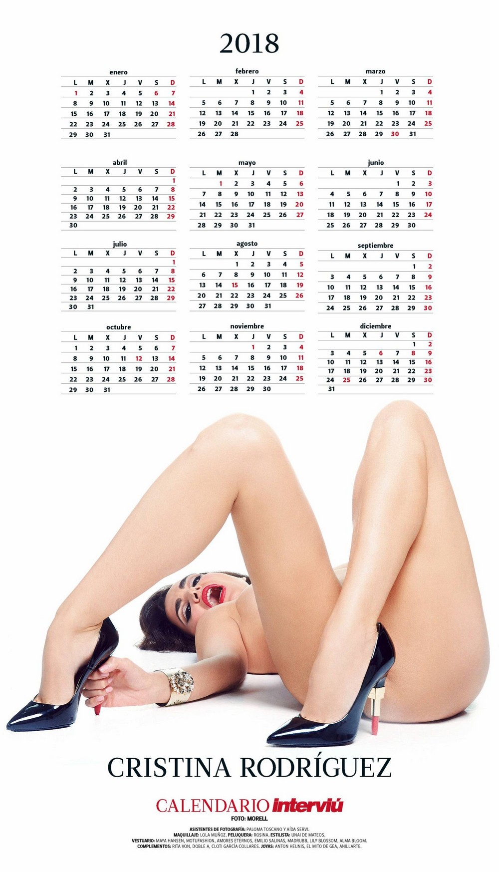 Kalender 2018 porn chloerose_model Female