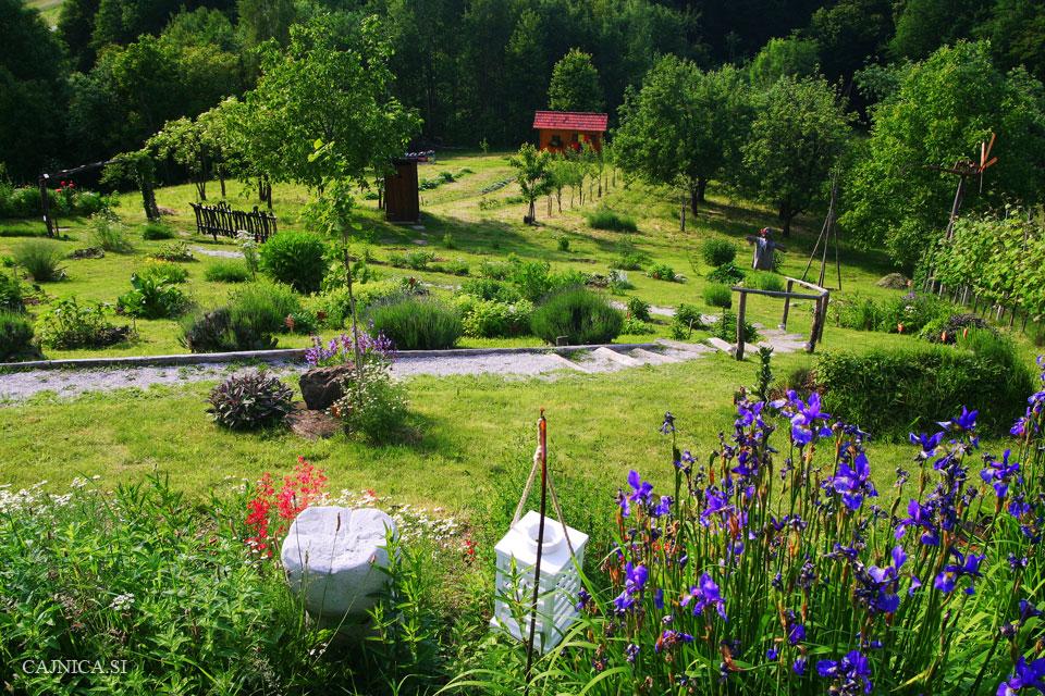 Симпатичный домик в саду