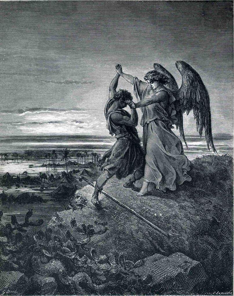 «Иаков, сражающийся с ангелом» (1855).jpg