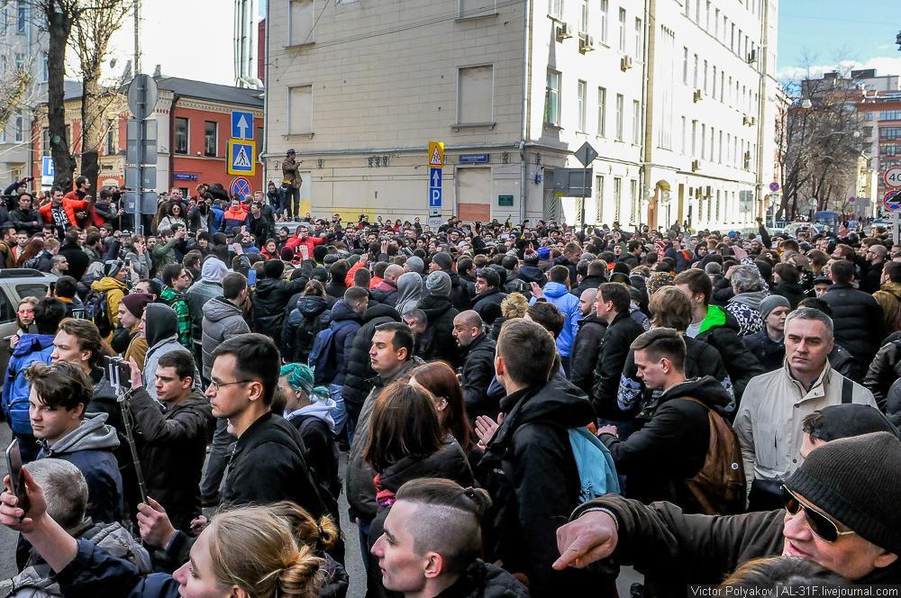 Шествие против коррупции в Москве