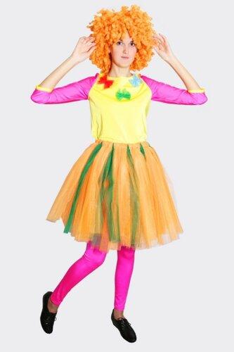 Женский карнавальный костюм Клоунессы