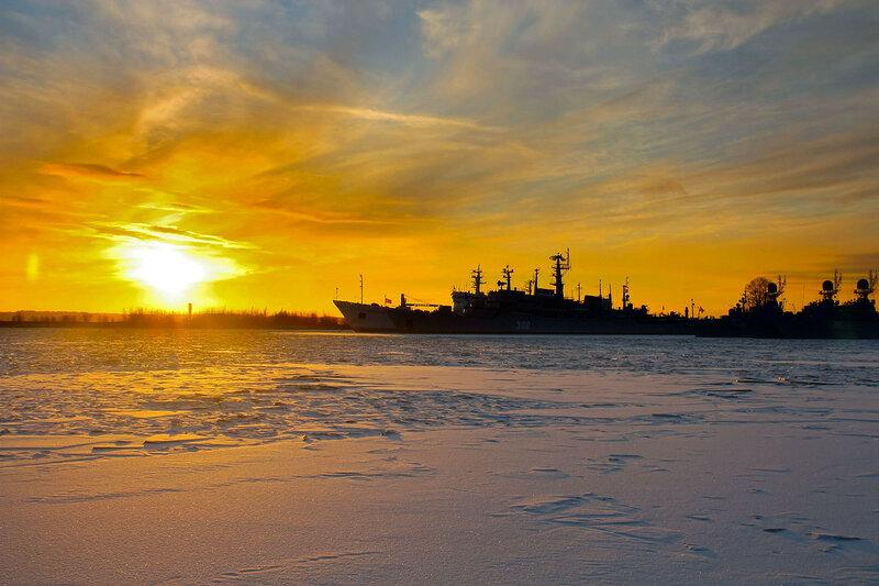Закат на Балтике. Кронштадт