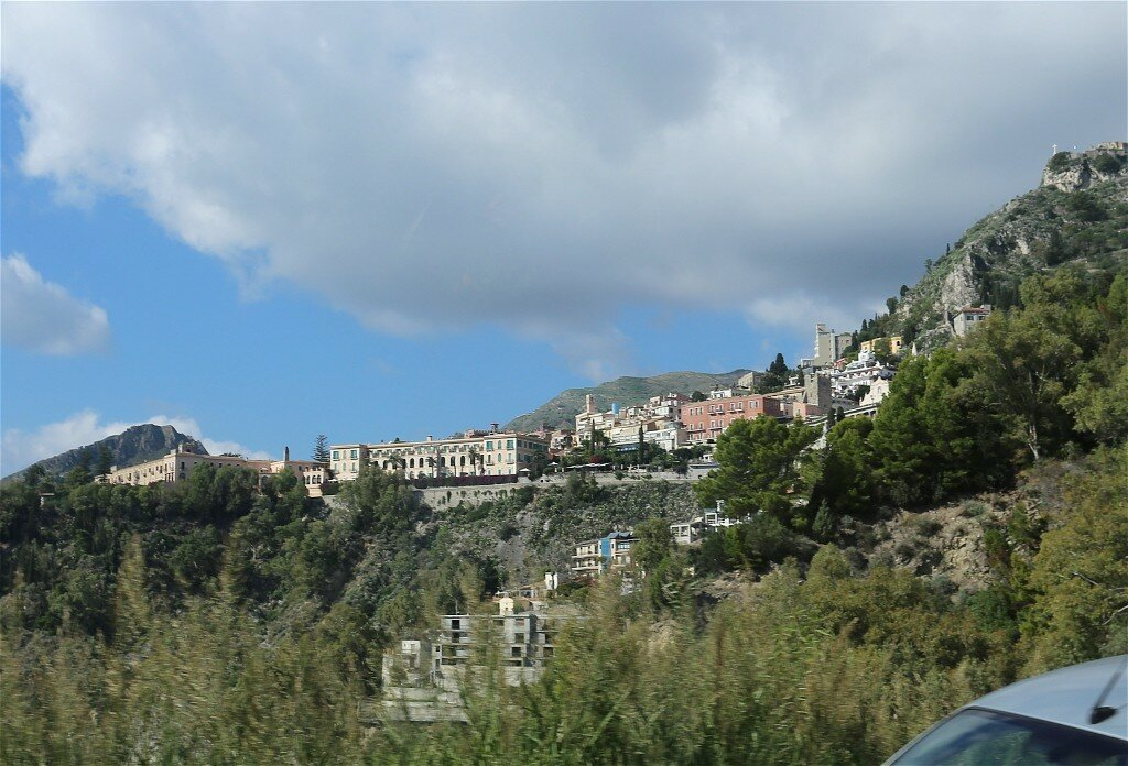 Taormina. View from the mountain serpentine