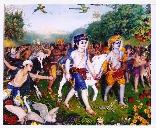 Кришна-Баларама и пастушки