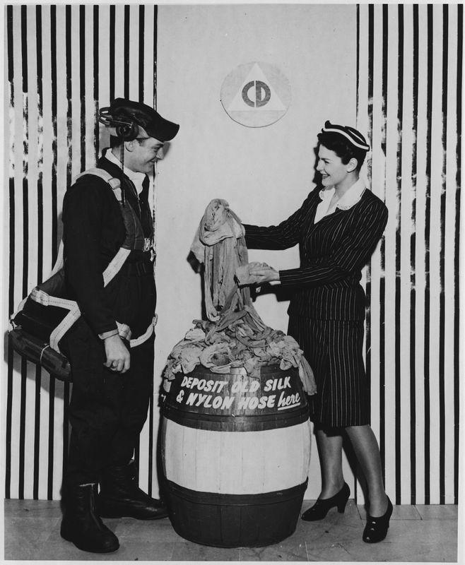 9. В 1941 году в связи с нуждами Второй мировой войны производство нейлона направили на изготовление