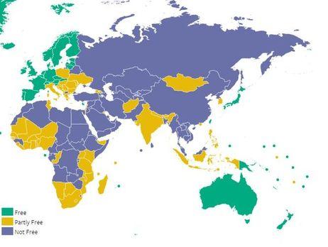 Freedom House назвал Крым территорией схудшим уровнем свободы СМИ