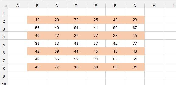 Рис. 1. Использование условного форматирования для чередующейся заливки четных и нечетных строк