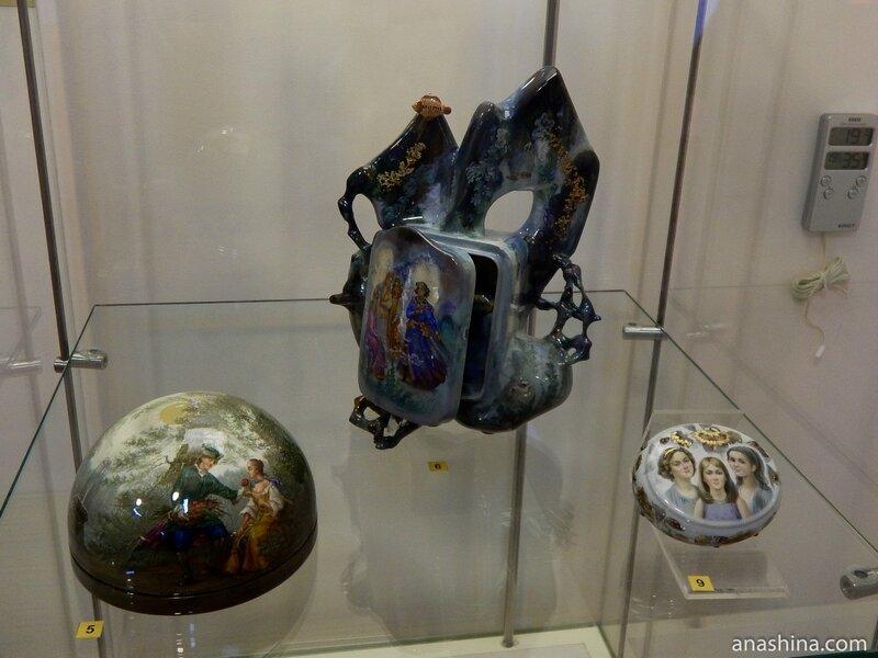 Необычный дизайн шкатулок, Федоскинская миниатюра